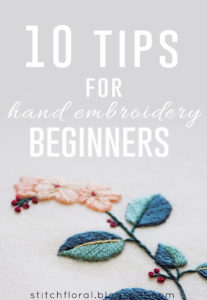 10 tips for hand embroidery beginners