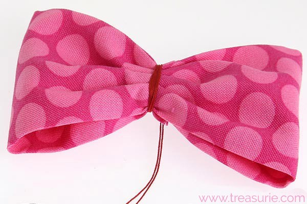 how to make a fabric bow 5