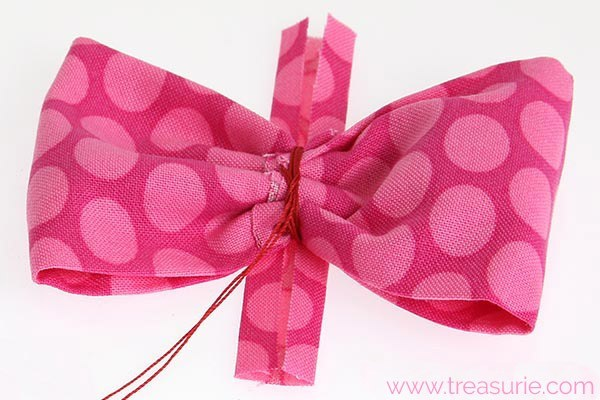 how to make a fabric bow 6 1